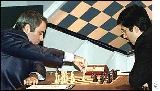 Garry Kasparov and Vladimir Kramnik