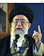 Ayatollah Ali Khamenei, the supreme leader of Iran