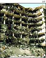 Alfred P Murrah Federal Building after bombing