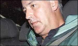 Michael Barrymore leaving Harlow police station after being questioned by officers