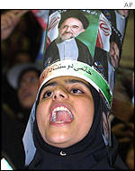 Supporter of President Mohammad Khatami
