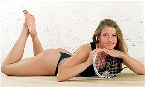 Vicky Botwright in her revealing new squash outfit (SquashPics.com)
