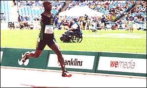 Elliot Mujaji  running