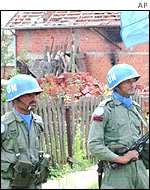UN soldiers in Croatia