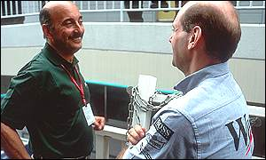 Jaguar boss Bobby Rahal and McLaren technical director Adrian Newey, copyright LAT Photographic