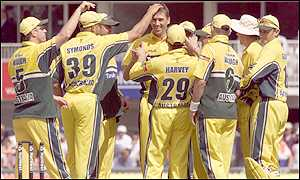 Australia celebrate another victory by a comfortable margin