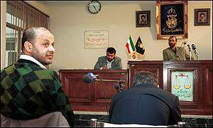 Akbar Ganji in court
