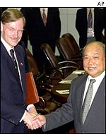 Robert Zoellick and Shi Guangsheng