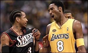 Allen Iverson and Kobe Bryant