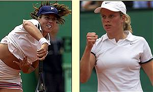 Action from the women's French Open final