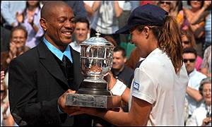 Olympic champion Maurice Greene presented the trophies