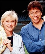 Sue Barker and John Inverdale