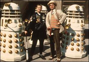 Sylvester McCoy and Sophie Aldred as The Doctor and Ace