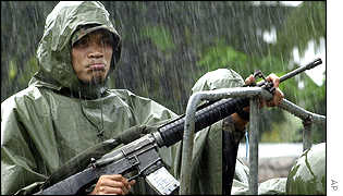 A member of the Philippines military