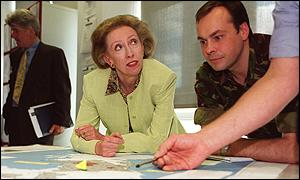 Margaret Beckett and with Major Robin Smith