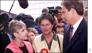 Sharon Storer, Gisela Stuart, Tony Blair
