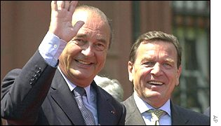 President Chirac and Chancellor Schroeder