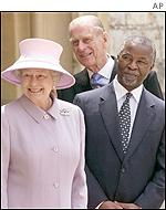 Queen Elizabeth and Thabo Mbeki
