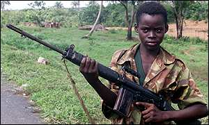 Child soldier in Sierra Leone