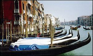 Venetian canals are background to new art at Biennale