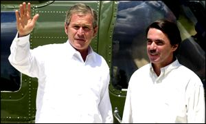 President George Bush and Prime Minister Jose Maria Aznar
