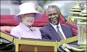 Image result for MBEKI AND THE QUEEN
