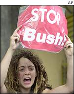 Anti-Bush protester