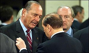 Jacques Chirac and Silvio Berlusconi