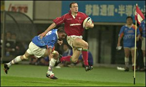 Wales and Llanelli wing Mark Jones