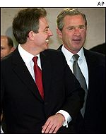 Bush with Tony Blair