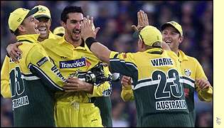 Jason Gillespie (c) caused England a lot of problems