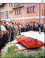 Funeral for victim of the conflict