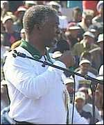 Thabo Mbeki during his election campaign