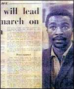 Thabo Mbeki in a London newspaper