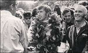 Sir Jackie Stewart won world titles in 1969, 1971 and 1973