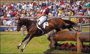 Ian Stark in action at the Sydney Olympics