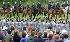 Re-enactment of the Battle of Orgreave