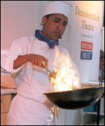 A chef at the European Ethnic Food Exhibition