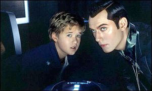 Haley Joel Osment and Jude Law