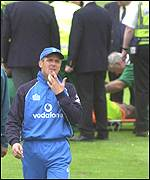 Alec Stewart was unhappy with the invasion at Headingley