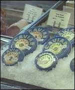 Caviar on sale in a Moscow shop