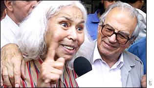 Nawal el-Saadawi and her husband Sharif Hatata