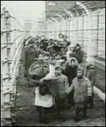 Children at a Nazi internment concentration camp