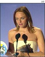 Stella McCartney accepts the award for designer of the year at the VH1 Vogue Fashion Awards
