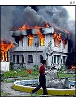 Manipur assembly building in flames