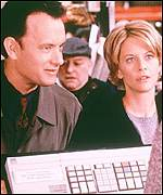 Tom Hanks and Meg Ryan in the 1998 film You've Got Mail