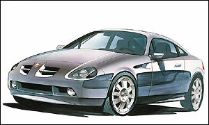 Sketch of the MG X80 sports car