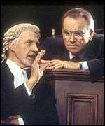 Jeffrey Archer acting in his play The Accused