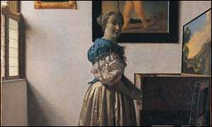 Vermeer's Young Woman Standing At A Virginal (National Gallery)
