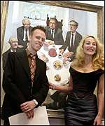 Stuart Pearson Wright with Jerry Hall